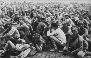 Russian prisoners captured by the Germans at Tannenberg