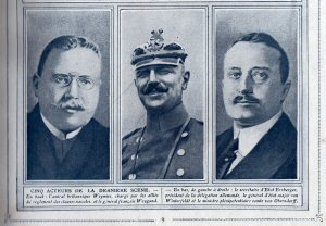 The principal German delegates were Erzenberg,(left) Winterfeldt (Centre) and Count von Oberndorff.(right)