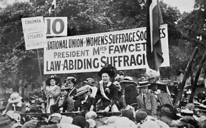 Millicent Fawcett as a Suffragette Leader.