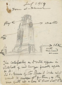 Sir Edwin Lutyens's original design for the temporary cenotaph in Whitehall
