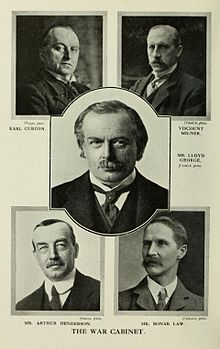 Lloyd George's War Cabinet met at least daily, sometime twice or three times in a day to focus solely on war issues. When other inputs were required then individuals like Arthur Balfour, Foreign Secretary would attend.